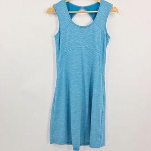 Prana Sleeveless Athletic Dress Keyhole Back Blue